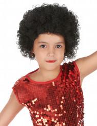 Zwarte afro pruik voor kinderen
