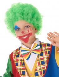 Groene clownspruik voor kinderen