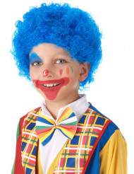 Blauwe clown pruik voor kinderen