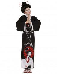 Zwarte Japanse kostuum voor meisjes