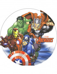 Eetbare Avengers™ schijf 20 cm