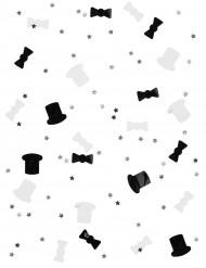 Set Black and White confetti