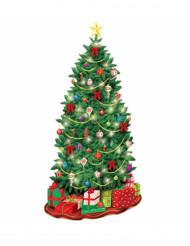 Plastic kerstboom muurdecoratie