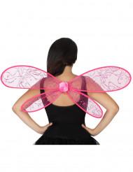 Roze feeën vleugels voor volwassenen