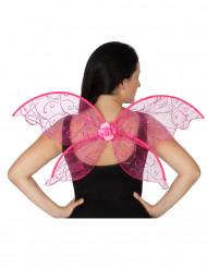 Roze vlinder vleugels voor volwassenen