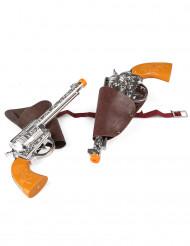 2 cowboy pistolen met holster