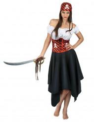 Schedel piratenkostuum voor dames