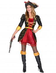 Stijvol barok piraten kostuum voor vrouwen