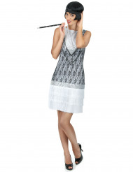 Wit charleston kostuum voor vrouwen