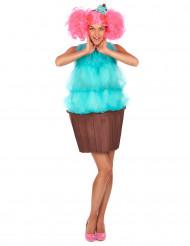 Turquoise cupcake kostuum voor vrouwen