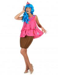 Roze cupcake kostuum voor vrouwen