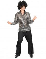 Zilver discokostuum voor mannen