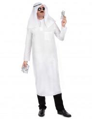 Wit arabische sjeik kostuum voor mannen