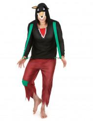 Grote boze wolf humoristisch kostuum voor volwassenen