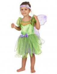 Groene met paarse fee outfit voor meisjes
