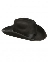 Zwart cowboy hoed voor volwassenen