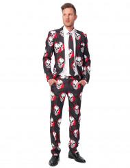 Bebloede doodskoppen Suitmeister™ kostuum voor mannen