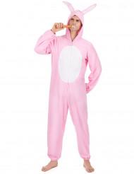 Roze konijnen kostuum voor mannen