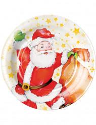 Set borden met kerstman motief
