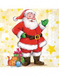 Set papieren servetten kerstman motief