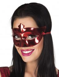Rode vinyl masker voor volwassenen