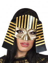 Zwart-goud Egyptische farao masker voor volwassenen