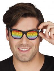 Regenboog bril voor volwassenen