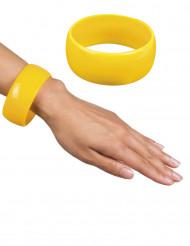 Gele brede armband voor vrouwen