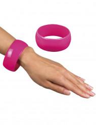 Brede roze armband voor vrouwen