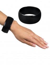 Brede zwarte armband voor vrouwen