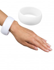Grote witte armband voor dames