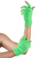 Fluo groene vingerloze handschoenen