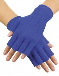 Blauwe korte handschoenen voor volwassenen