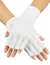 Witte vingerloze handschoenen volwassenen