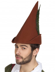 Lange bruine boswachter hoed voor volwassenen