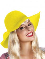 Gele zomerse hoed voor volwassenen