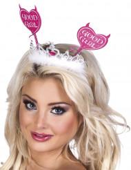 Roze vrijgezellenfeest haarband