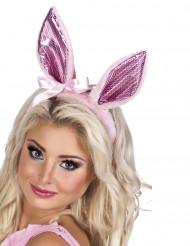 Roze konijnen oren voor vrouwen