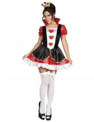 Sexy hartenkoningin kostuum voor vrouwen