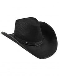 Zwart cowboy hoed voor heren