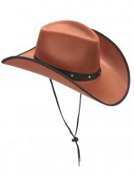 Bruin cowboy hoed voor volwassenen