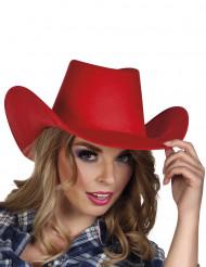 Rode cowboy hoed voor volwassenen