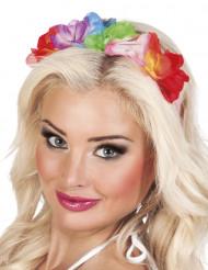 Bloemen haarband Hawaï voor volwassenen