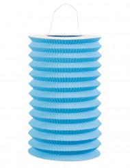 Blauwe papieren lantaarn