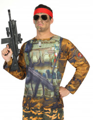 Militair fopshirt voor volwassenen
