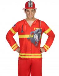 Brandweer fopshirt voor heren