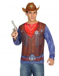 Cowboy t-shirt voor mannen
