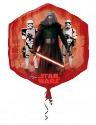 Rood-blauwe aluminium Star Wars™ ballon 55 x 58 cm