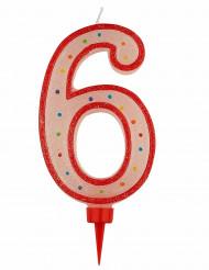 Grote verjaardag kaars cijfer 6