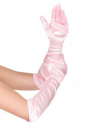 Roze prinsessen handschoenen voor meiden